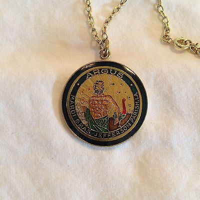 Argus 1984 Cloisonne Mini Looped Doubloon with chain