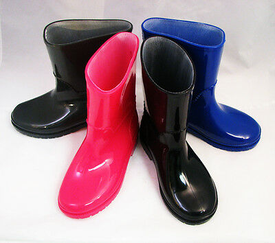 New Childrens Rain Boots Kids Boys Girls Rubber Snow Slip On Colors, Sizes: 11-3