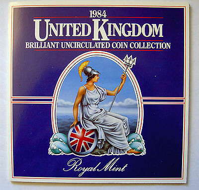 1984 Great Britain  / Northern Ireland Uk - Official British Mint Unc Set (8)