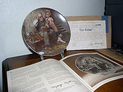 "Rockwell Heritage Series Collector Plate - 2'nd in series - ""The Cobbler"" COA"