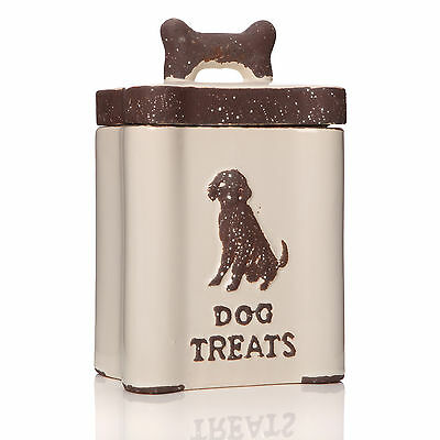 Dog Puppy Pet Food Dry Biscuit Treat Storage Container Canister Vintage Jar