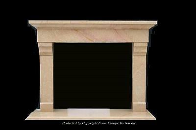 Beautiful Hand Carved Marble Estate Fireplace Mantel - Jd53