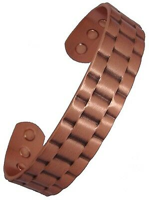 Mens or Womens Bio Magnetic Therapy Bangle Link Effect Copper Bracelet Wristband