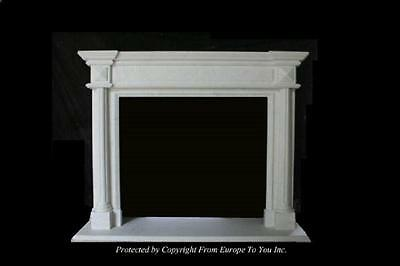 Beautiful Hand Carved Marble Estate Fireplace Mantel - Jd59