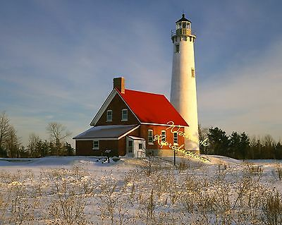 Tawas Point Lighthouse 8x10 color photo nr