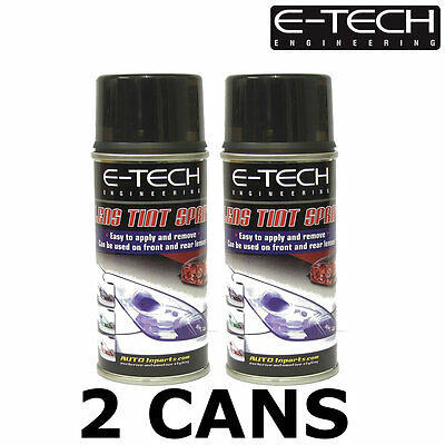 E-Tech Lens Tint / Light Tinting Spray - SMOKE / BLACK 300ml - Pack of 2x150ml