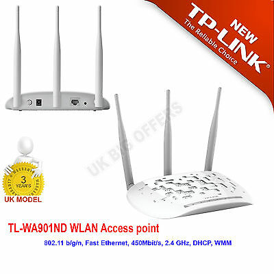 TP-LINK TL-WA901ND V4 450Mbps Universal Wireless N Access Point High Speed New