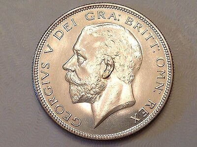 - 1927 Great Britain One Half 1/2 Crown proof George V -only 15,000 minted