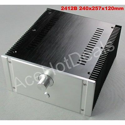 2412B Full Aluminum Enclosure mini AMP case/power amplifier box chassis Free DHL