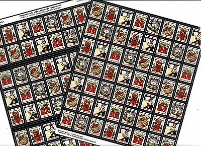 2007 U.S. Spanish Text National Christmas Seals Sheet Collection