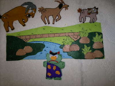 Felt Board/flannel Story Rhyme Teacher Resource -3 Billy Goats Gruff