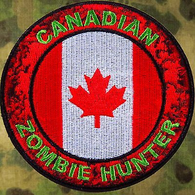 Canadian Zombie Hunter Embroidered Patch   ~ The Walking Dead ~ Amc