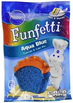 Pillsburry Funfetti Aqua Blue Cupcake & Cake Mix