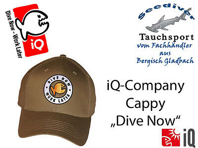 """iQ - Cap / Cappy / Mütze  """"Dive Now - Work Later"""" in Farbe """"tabacco"""""""