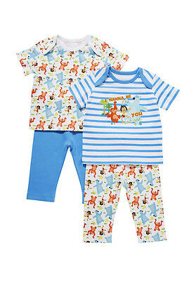 2 Pack 100% Cotton  Baby Boy Disney Jungle Book Pyjamas 3 months to 3 years Blue