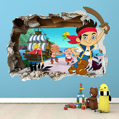 Jake And The Neverland Pirates Smashed Wall Sticker - Bedroom Vinyl Wall Art