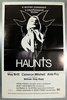 Haunts - May Britt / Cameron Mitchell - Original American One Sheet Movie Poster