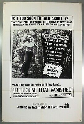 The House That Vanished -Andrea Allan- Original American One Sheet Movie Poster