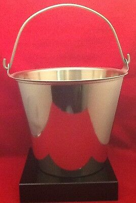 Used Polar Stainless Steel Utility Pail With Handle 12 Quart Milking Pail T1013