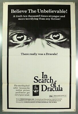In Search Of Dracula - Christopher Lee - Original American 1Sht Movie Poster