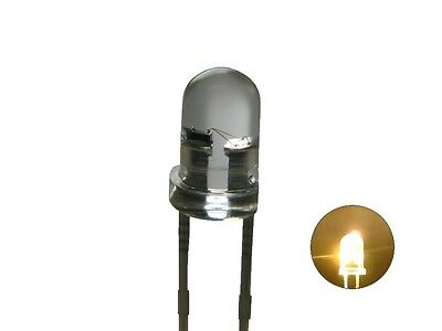 S247 - 20 Piece Flickering LEDs 3mm warm white clear light with Control