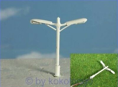 S274 - Set 5 Pieces Street Lamps Whip Lamp 2 Flame 3,8cm Street Lamps