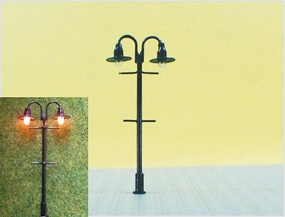 S311 - Set 5 Pieces Lamps Streetlights nostalgic 2 flame 5,6cm Park lights