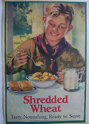 SHREDDED WHEAT w/ BOYSCOUT AD. 10X14""