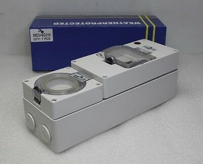 NEW IP66 Weather Proof Protected 240v 15amp Socket OutletRCD Capable