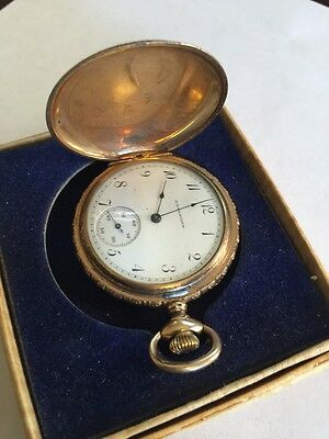 Antique 1902 Elgin 6s Pocket Watch  C.D Peacock With Original Guarantee And Box