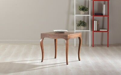 New Modern Contemporary Glossy Lacquer VICTOR Side Table in Walnut # 7692