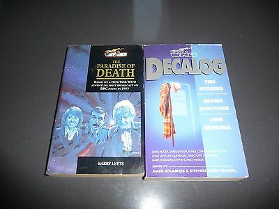 VINTAGE Doctor Who Book Lot Paradise Of Death, Decalog RARE!