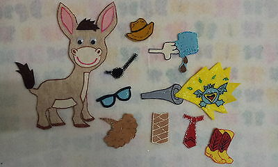 Felt Board/flannel Story Rhyme Teacher Resource - The Wonky Donkey-
