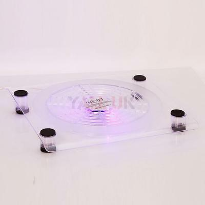 "USB LED 18cm Big Fan Laptop 15.4"" Notebook Air Cooling Cooler Pad Stand HK"