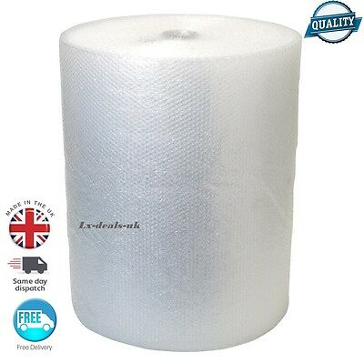 SMALL POST BUBBLE WRAP ROLLS CLEAR POLY REMOVAL 750mm 10m 20m 100m 50m postal