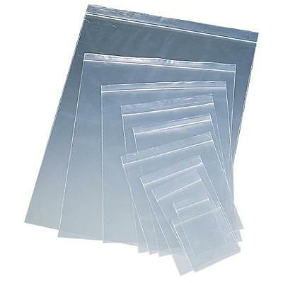 PLASTIC RESEALABLE GRIP SEAL ZIP LOCK BAGS 3x7.5 4x4.5 3.5x4.5 7.5x7 clear