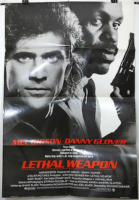 Lethal Weapon - Mel Gibson / Danny Glover - Original American 1Sht Movie Poster