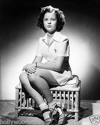 Shirley Temple sitting on an ottoman child movie star 8x10 rare photo