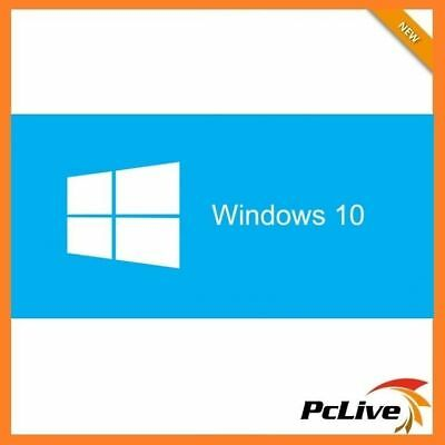 Genuine Microsoft Windows 10 Home 64Bit Full Version with DSP OEI DVD Disc & Key