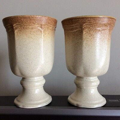 2 Mikasa Whole Wheat Water Goblets