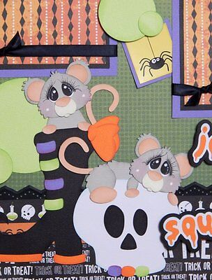 Jeepers Squeakers / Halloween 2 premade scrapbook pages layout paper piecing