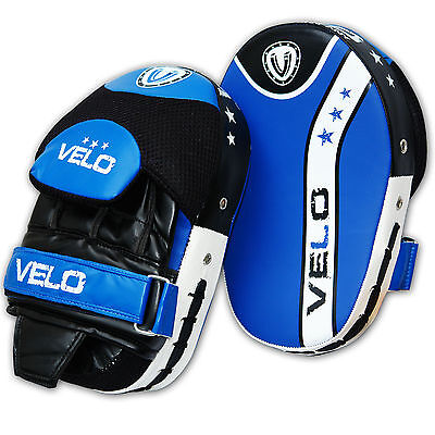 VELO Curved Focus Pads Hook and Jab Mitts Gloves Punch Bag Kick Pad MMA UFC US