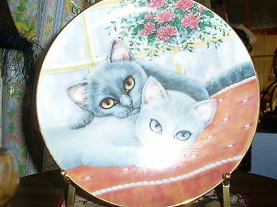 Chelsea  And  Charlie  (Purrfect  Pairs)  Collector  Plate