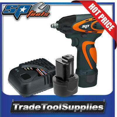 """SP Tools 12v 3/8"""" Drive Cordless Mini Impact Wrench Charger 2x Batteries SP81112"""