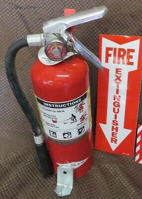 1-5lb ABC FIRE EXTINGUISHER  WNEW 2017 CERTIFICATION TAG VEHICLE BRACKET & SIGN