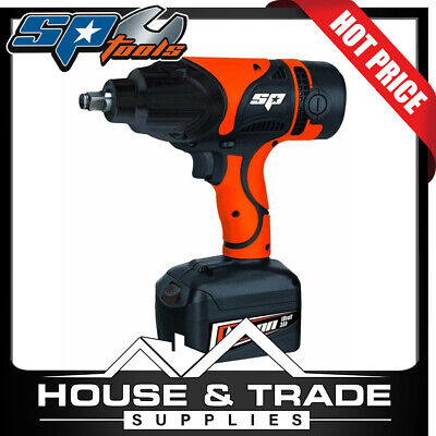 "SP Tools 18v 1/2"" Cordless Impact Wrench + Charger + 2x 3.0Ah Batteries SP81128"