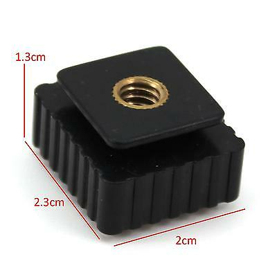 Universal 1/4 Screw Hole Cold Foot Hot Shoe Mount Flash Adapter For Canon Series