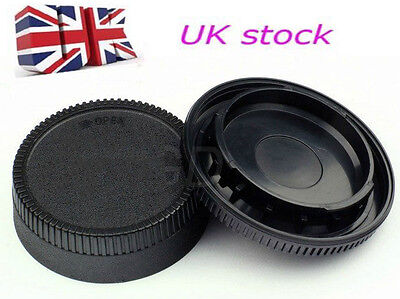 New Body Cap + Rear Lens Cover for Nikon DSLR SLR Camera AF AF-S Lens UK Stock