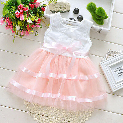 New Baby Girls Party Dress in Lilac Pink and Blue 6-9 9-12 12-18 18-24 Months