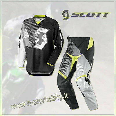 Completo Motocross Scott 350 Dirt Black White Taglia M - 30